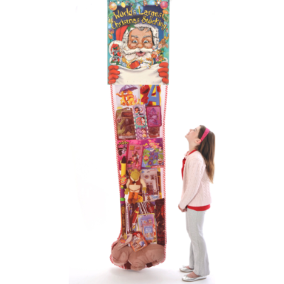 Christmas Stocking With Toys - 8 Foot Deluxe