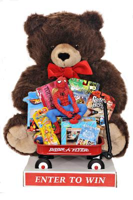 Giant Teddy Bear With Toys - Brown