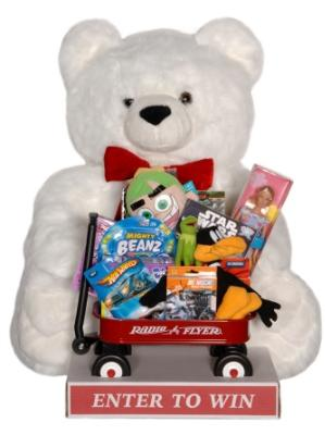 Giant Teddy Bear With Toys - White