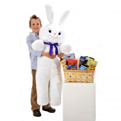 Baxter the Giant Easter Bunny with Toys