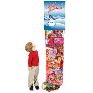 Happy Holidays 6ft Stocking with Toys
